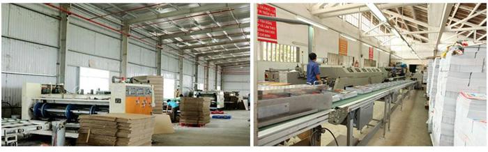 Xưởng sản xuất hộp giấy Sắc Hoa Box có hệ thống máy móc hiện đại