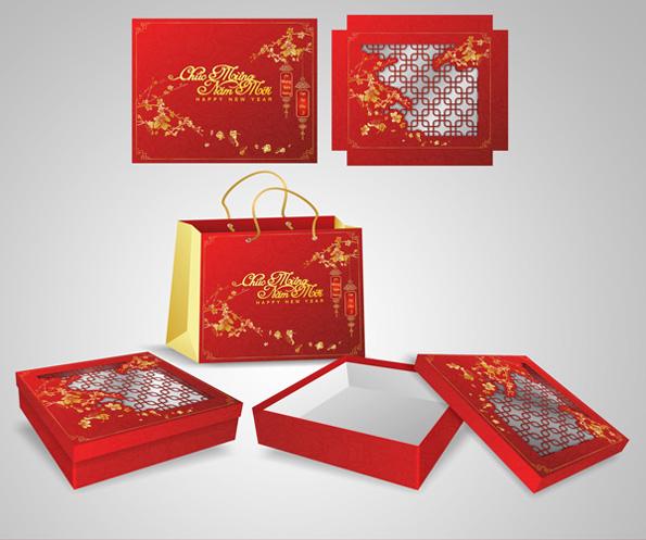 Gửi tặng người thân món quà ý nghĩa nhờ dịch vụ in hộp quà Tết giá rẻ tại Sắc Hoa Box