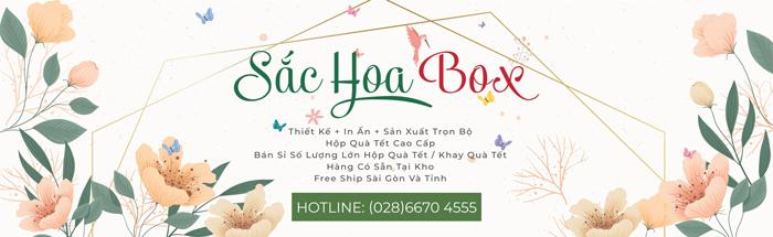 In hộp quà Tết giá rẻ tại Sắc Hoa Box để có những mẫu hộp độc đáo đẹp mắt