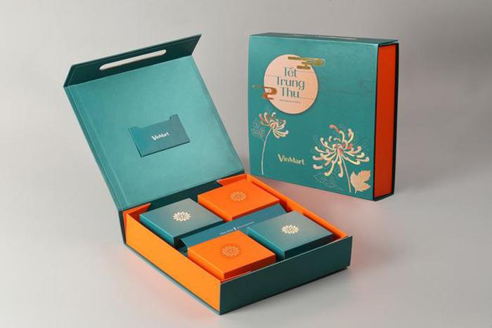 Mẫu in hộp bánh trung thu nắp liền tại Sắc Hoa Box 3