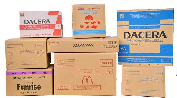 Mẫu thùng carton đồ điện tử tại xưởng sản xuất hộp carton