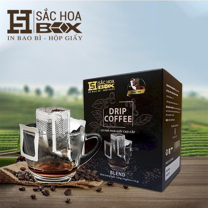 in hộp cứng cà phê Sắc Hoa BOX